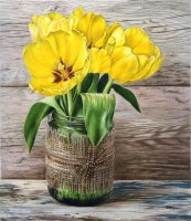 Yellow Tulips in a Jar